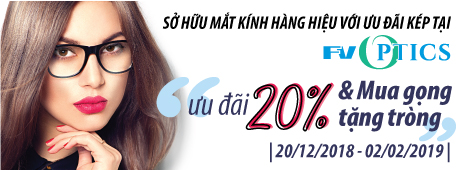 Own luxury, stylish prescription glasses with a double offer from FV Optics: 20% discount + Buy frames, get lenses free